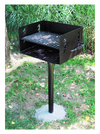 How to cure a new commercial galvanized park grill
