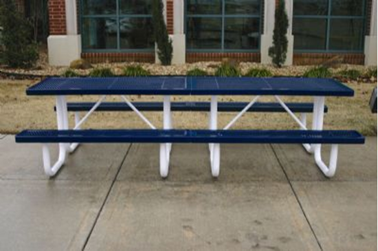Picture of 10 ft. Rectangular Thermoplastic Picnic Table - Expanded Metal - Portable Frame