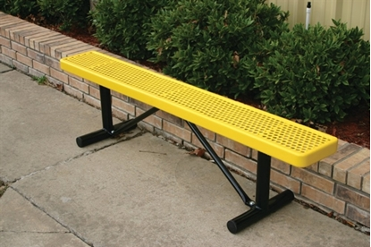 Picture of 6 ft. Bench without Back - Thermoplastic Coated Steel - Perforated - Portable