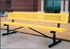 Picture of 6 ft. Bench with Back - Thermoplastic Coated Steel - Innovated Perforated Style - Portable