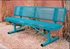 Picture of 6 ft. Bench with Back - Thermoplastic Coated Steel - Rolled Expanded Metal - Regal Style - Portable
