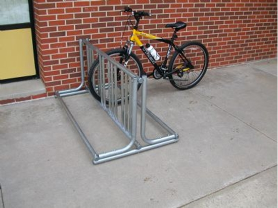 Picture of J Frame 18 Space Bike Rack - Galvanized or Powder Coated - Portable