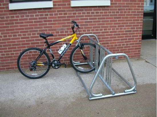 Picture of A Frame 18 Space Bike Rack - 10 foot - Galvanized Steel - Portable