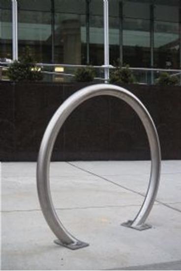 Picture of Horseshoe Bike Rack - Galvanized Steel - Surface Mount