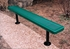 Picture of 8 ft. Bench without Back - Thermoplastic Coated Steel - Perforated Style - Surface Mount