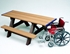 ADA Rectangular Picnic Table 8 Ft. Recycled Plastic - Portable