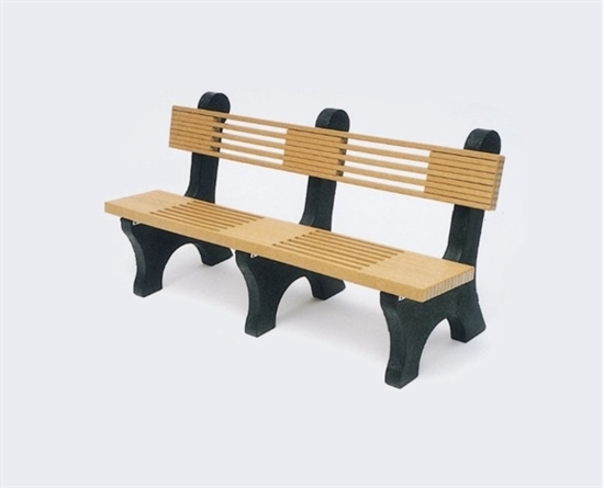 Picture of 6 Ft. Recycled Plastic Bench with Back