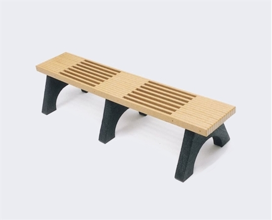 Picture of 6 Ft. Recycled Plastic Bench without Back
