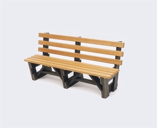 Picture of 6 Ft. Recycled Plastic Bench with Back - Boardwalk style - Portable