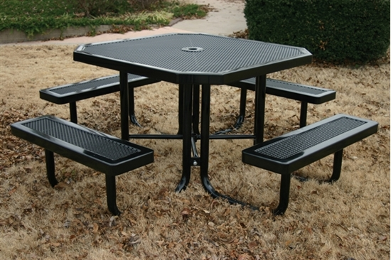 Picture of Octagonal Picnic Table - Thermoplastic Steel - Innovated Style