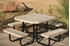 Picture of Octagonal Thermoplastic Steel Picnic Table - Regal Style - Portable
