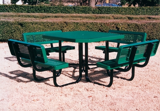 Picture of Octagonal Picnic Table - Thermoplastic Steel - Regal Style - Portable