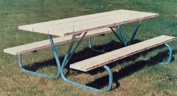 Frame Kit For Ft Picnic Table Bolted Galvanized Steel - 8 ft picnic table kits