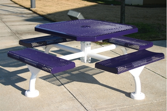 Picture of Octagonal Thermoplastic Steel Picnic Table - Rolled Regal Style - Portable
