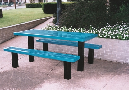 Picture of 6 ft. Rectangular Thermoplastic Picnic Table - Regal Style - Inground