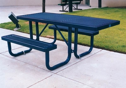 Picture of 6 ft ADA Wheelchair Accessible Thermoplastic Picnic Table - Portable