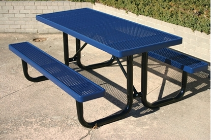 Picture of Rectangular 6 ft. Thermoplastic Steel Picnic Table  - Ultra Leisure Style - Portable
