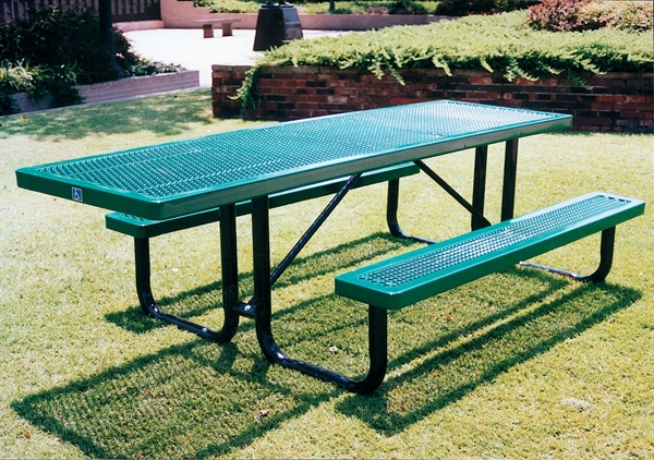 ADA Wheelchair Accessible Picnic Table Thermoplastic Coated - Wheelchair picnic table