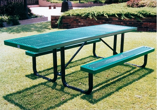Picture of ADA Wheelchair Accessible Picnic Table - Thermoplastic Coated - Portable