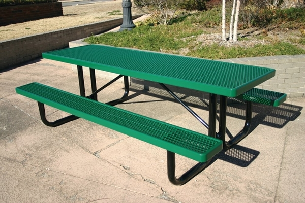 Ft Thermoplastic Steel Picnic Table Ultra Leisure Style - Picnic table seats 8