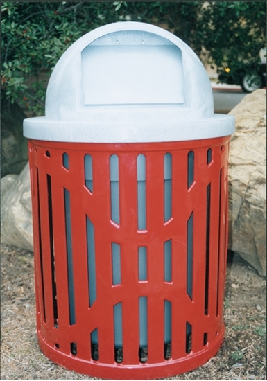 Picture of 22 Gallon Trash Receptacle with Dome Top - Classic Design - Portable