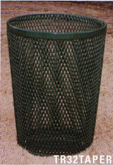 Picture of Tapered Trash Receptacle - Plastic Coated Expanded Metal