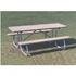 "Picture of 6 Ft. Rectangular Wooden Picnic Table - 1 5/8"" Welded Frame - Portable"