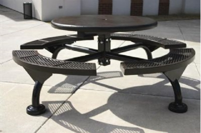 Picture of Round Solid Top Picnic Table - Thermoplastic Steel - Portable
