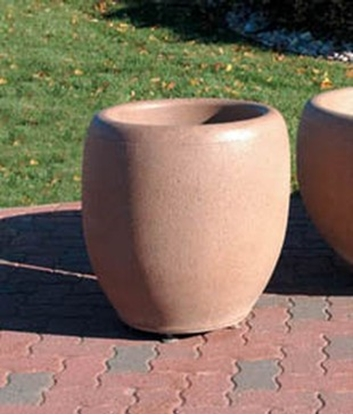 "Picture of 24"" Commercial Round Concrete Planter - Portable"