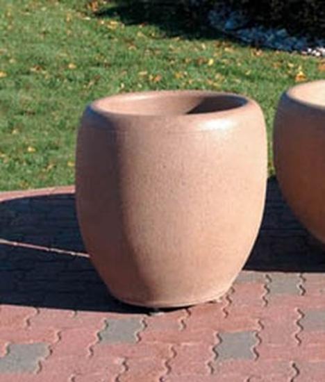 "Picture of 24"" Commercial Round Concrete Planter - Portable"