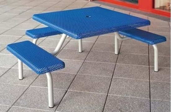 Picture of Square Metal Picnic Table - Wheelchair Accessible - Portable