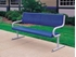 6 Ft. Bench With Back - Perforated Powder Coated Steel - Portable