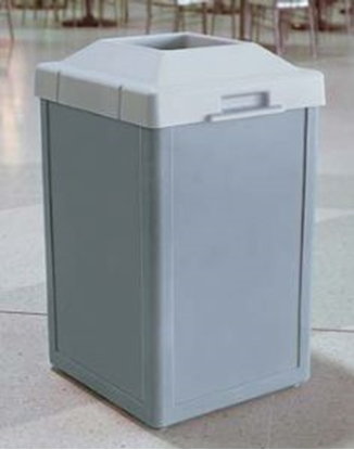 Picture of 24 Gallon Trash Receptacle -  Plastic with Pitch-In Top - Portable
