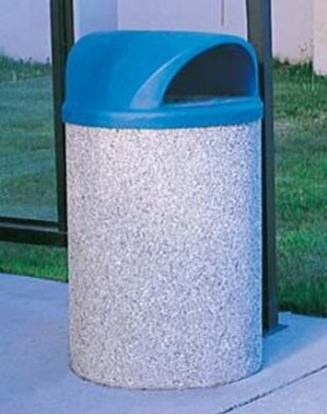Picture of 42 Gallon Dome Top Trash Can - Two-way Dome Top - Portable