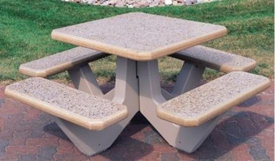 Picture of Square Concrete Picnic Table - Portable