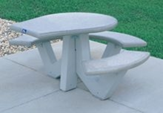 Picture of ADA Round Concrete Picnic Table - Bolted Frame - Portable