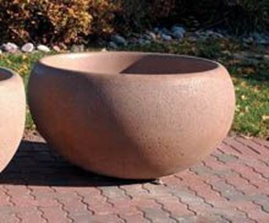 "Picture of 42"" Commercial Round Concrete Planter - Portable"