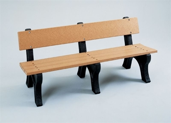 Picture of 6 Ft. Recycled Plastic Bench with Back - Easy Assembly - Portable