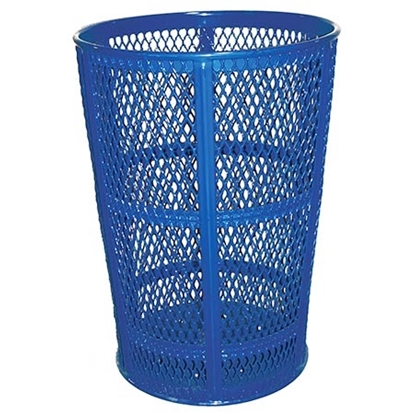Picture of 45 Gallon Tapered Round Trash Receptacle - Expanded Steel