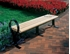 8 Ft. Recycled Plastic Flat Hoop Bench Without Back - Steel Frame - Surface Mount
