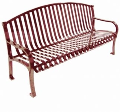 Picture of 5 ft. Contour Bench with Arched Back and Arms - Plastic Coated Metal