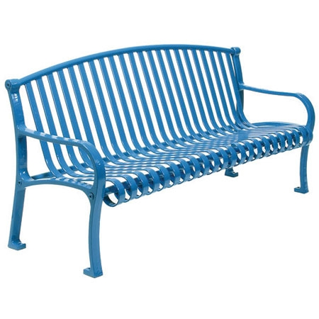 6 Ft Contour Bench With Arched Back And Arms Plastic