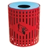 Picture of 32 Gallon Round Custom Logo Trash Receptacle - Diamond Pattern - Portable or Surface Mt