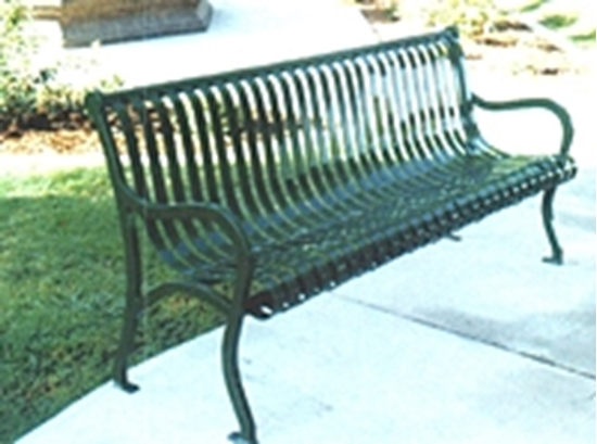 Picture of 4 ft. Iron Bench with Back - Portable or Surface Mount