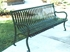 4 Ft. Iron Bench With Back - Portable Or Surface Mount