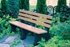Picture of 6 Ft. Recycled Plastic Bench with Back - Portable