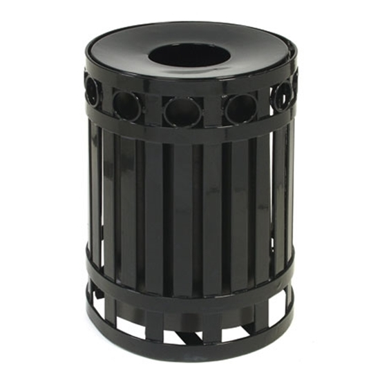 Picture of Round Ring Style Trash Receptacle with Spun Metal