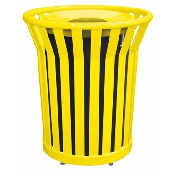 Picture of 32 Gallon Plastic Coated Steel Trash Can - Portable