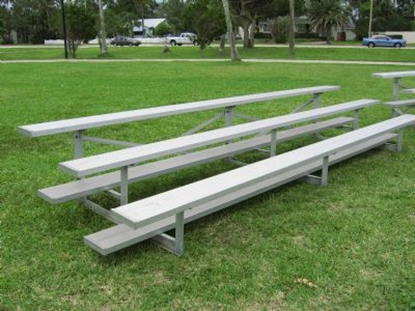 Picture of 21 ft. Low Rise 3 Row Bleachers - All Aluminum