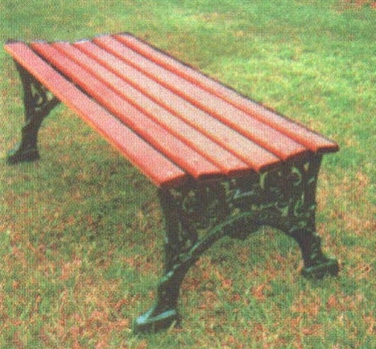 80 Inch Renaissance Bench Without Back Wooden Slats And Metal